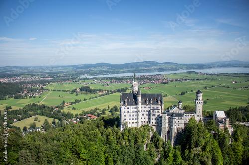 Spoed canvasdoek 2cm dik Olijf Schloss Neuschwanstein bei Füssen im Allgäu