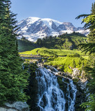 Edith Creek Falls and Mt Rainier