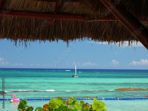 Fotobehang Tropical strand Tulum beach, Riviera Maya, Mexico