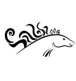 Elegant Horse Run Silhouette Icon Vector