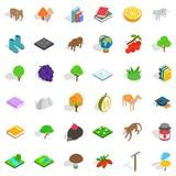 Animal icons set, isometric style