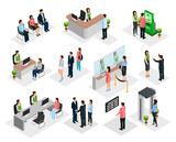 Isometric People In Bank Collection - 172936995