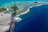 Aitutaki Polynesia Cook Island aerial view from airplane - 172937799