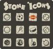 Quadro sport balls icon set