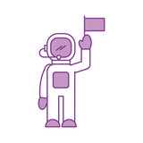 astronaut in space suit character profession mission vector illustration - 172980931