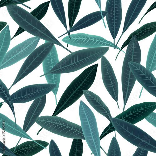 Aluminium Plumeria Tropical pattern with plumeria leaves. Summer print.