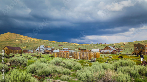 Tuinposter Pistache Visiting Bodie Ghost Town in California
