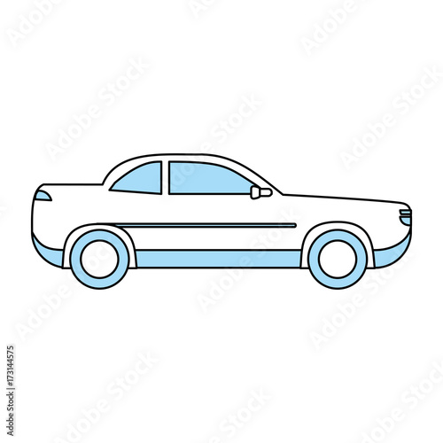 car sideview icon image vector illustration design