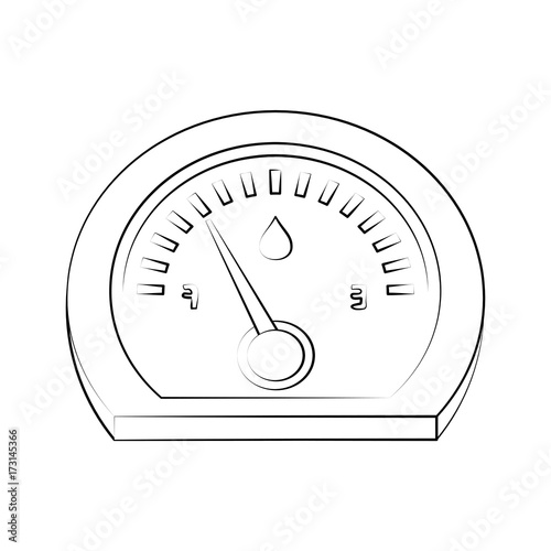 Fridge magnet Car fuel meter icon vector illustration graphic design