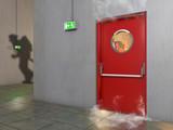 Brandschutztür bei Feuer - 173147136