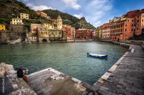Vernazza at Sunset Poster