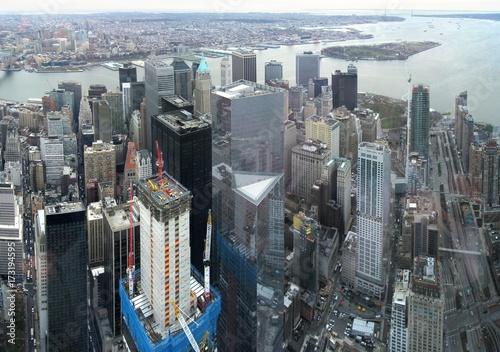 Staande foto New York Aerial image of Manhattan, New York