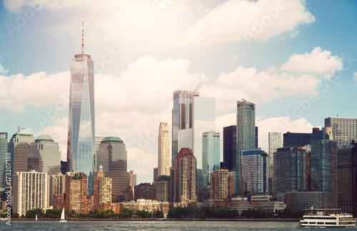 Tuinposter New York New York city Lower Manhattan skyline