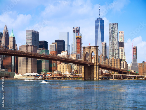 Foto Murales New York city Lower Manhattan skyline