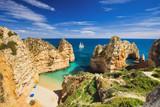 Fototapety Beautiful bay near Lagos town, Algarve region, Portugal