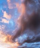 Colourful cloudy sky.
