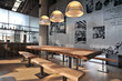 Leinwanddruck Bild - Industrial loft bar style