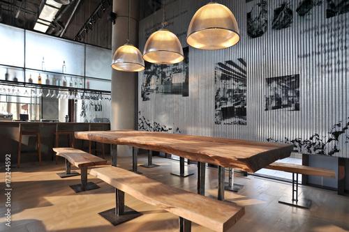 Leinwanddruck Bild Industrial loft bar style