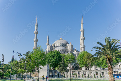 The Blue Mosque in Istanbul, Turkey on summer day Poster