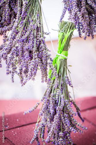 Fotobehang Lavendel Lawendowy bukiet