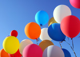 multicolored balloons in the city festival - 173273568