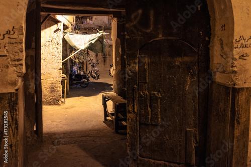 Aluminium Oude verlaten gebouwen Marrakech