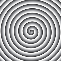 Shaded grayscale spiral vector background.