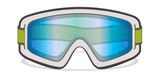 ski goggles, white on whte background