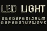 3D LED Style Alphabet Set - 173328703