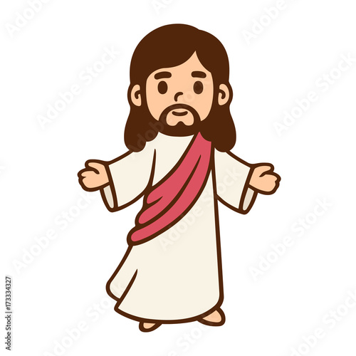 Cartoon Jesus drawing - 173334327