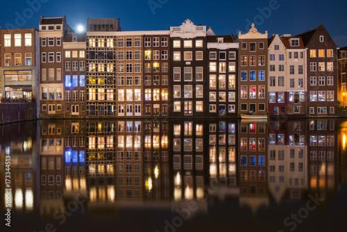 Foto op Aluminium Amsterdam Amsterdam port