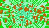 Orange Magnetic Blobs on Green and White Background Loop V2 - 173361935