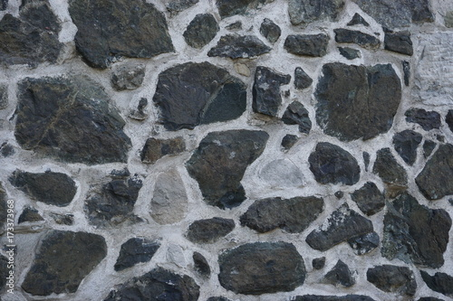 Fototapeta Black and gray stone wall background