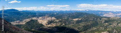Fototapeta Flatirons Boulder Colorado Trail Rock Burnt Trees