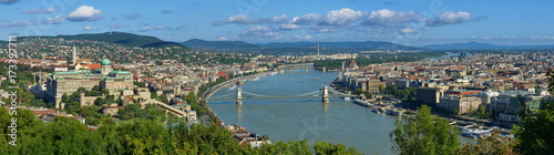 Fotobehang Boedapest Budapest Panorama, von der Freiheitsstatue gesehen