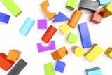 some colorful building blocks background - 173406942
