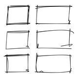 hand drawn rectangle frames - 173407959
