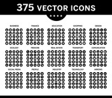 Pack of icons, vector collection for web design, icon set 2. - 173414944