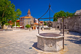 Zadar Five wells square and historic architecture view - 173415167