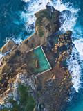 Aerial view of North Curl Curl rock pool. - 173427142