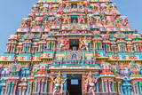 Colorful hindu temple tower view