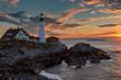 Portland Head Lighthouse in Cape Elizabeth, Maine, USA.
