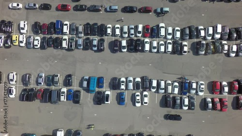 car parking, aerial view, raw, 4K