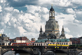 Skyline of Dresden on a cloudy day