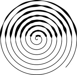 Spiral round shape. The element of design to create abstract layouts, covers, print on paper, fabric, wrap. Vector illustration