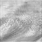 Square shape as a maze of uneven, changing the thickness of the lines. - 173492395