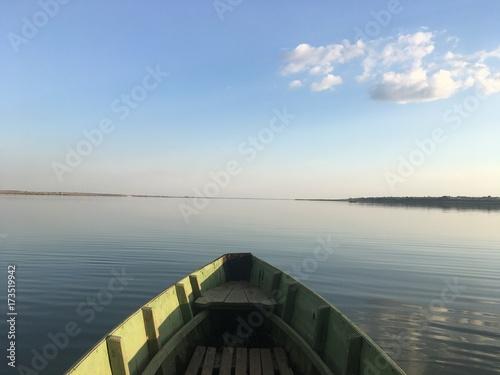 Aluminium Pier lake on evening