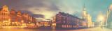evening panorama of Poznan,retro,vintage style - 173522109