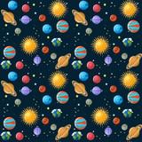 Planets seamless pattern.