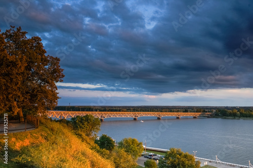 Bridge over Vistula river in Plock, Poland - 173525711